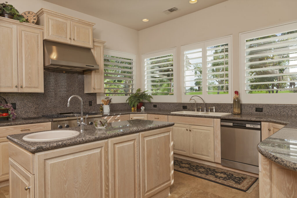 kitchen with built in cabinets